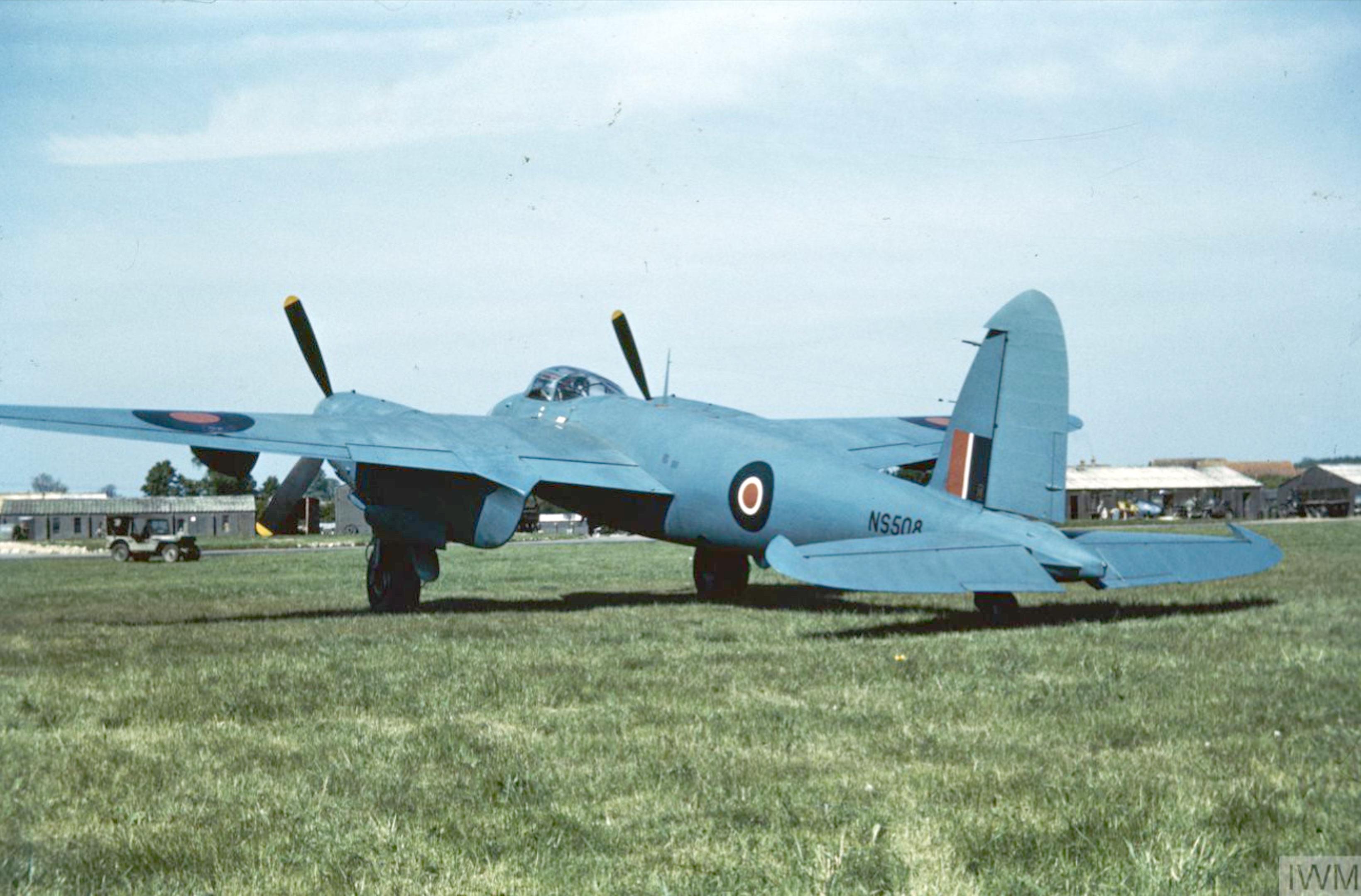 Mosquito PRXVI RAF NS508 at Mount Farm IWM COL 471