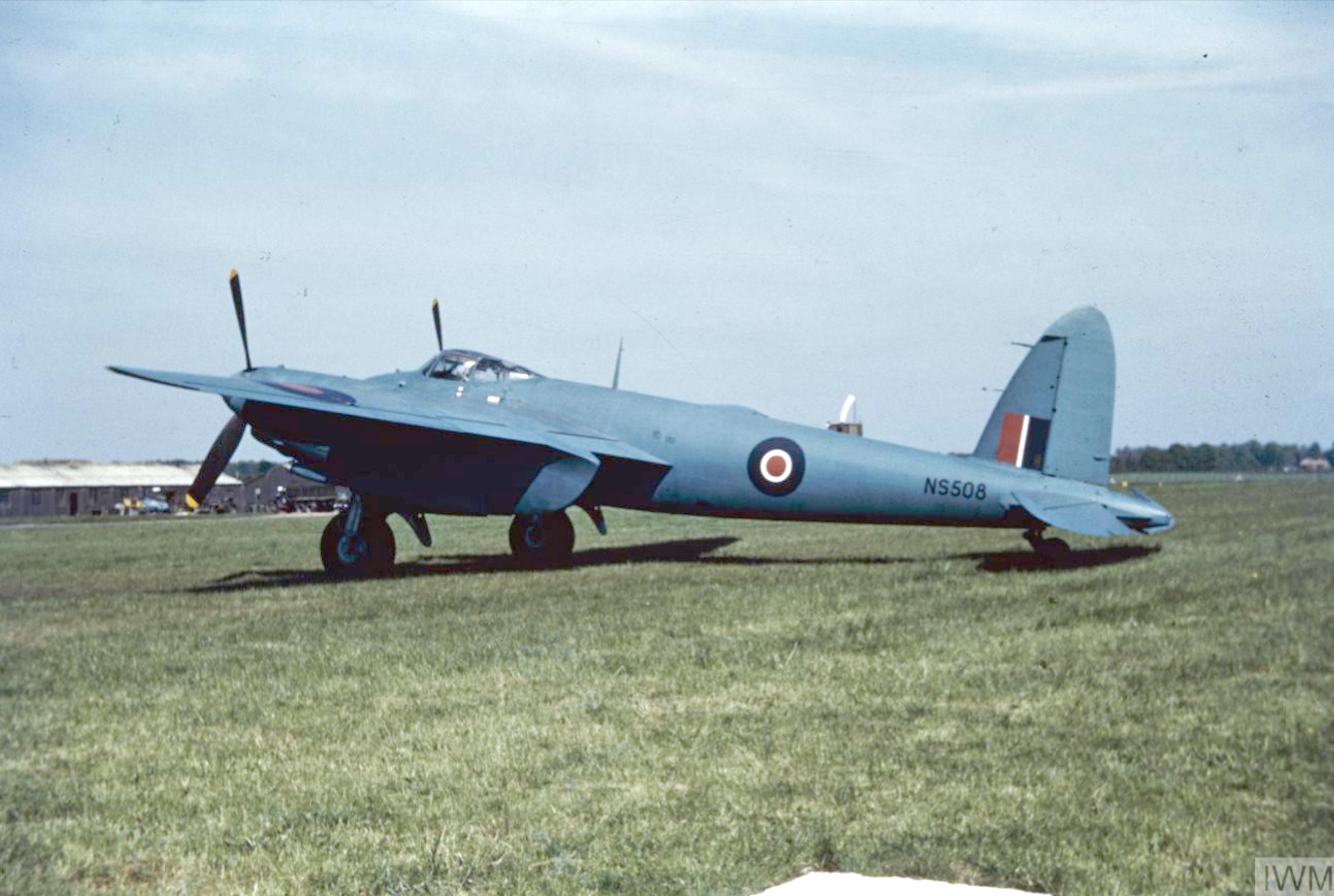 Mosquito PRXVI RAF NS508 at Mount Farm IWM COL 473
