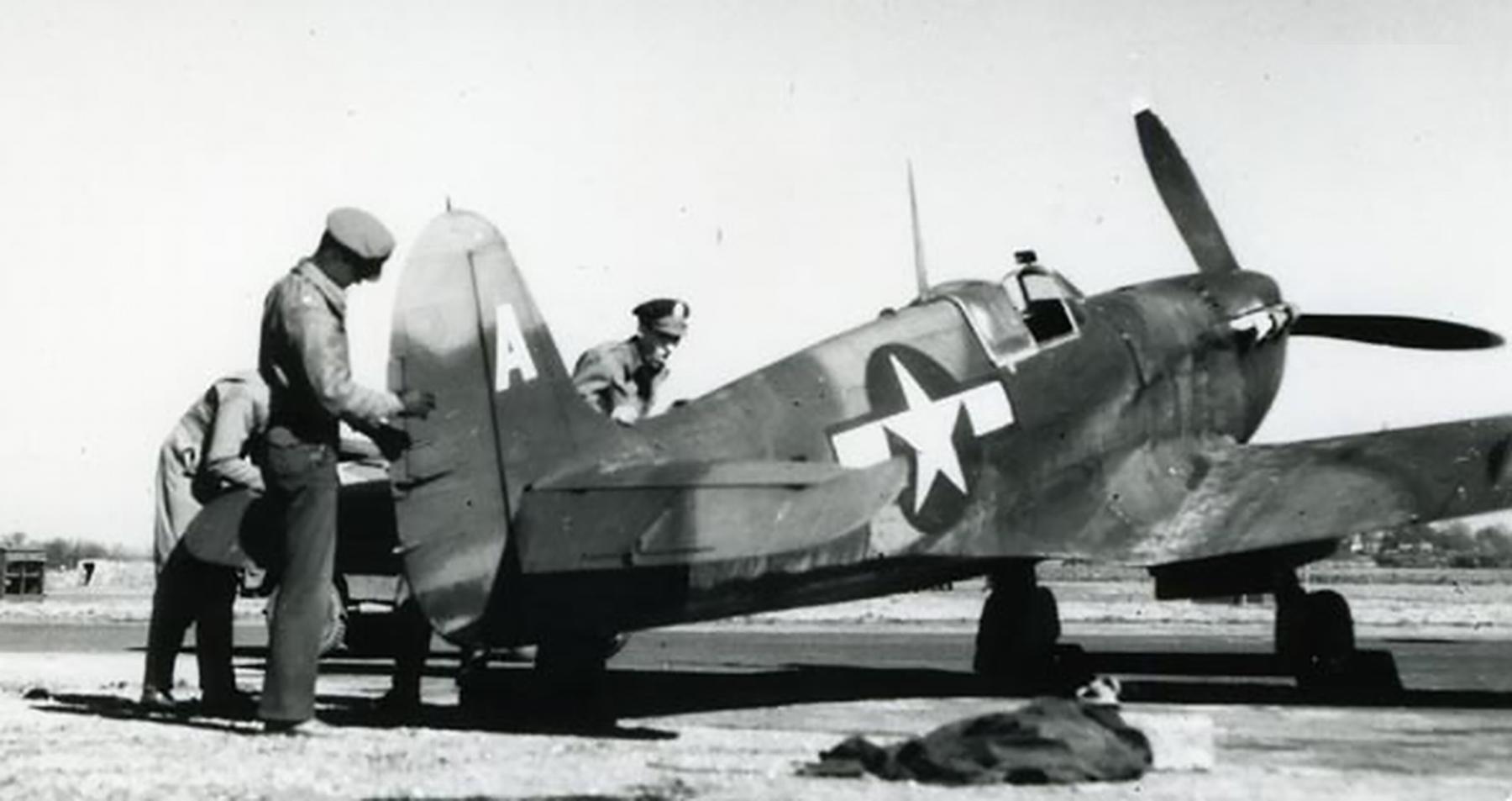 Spitfire LFVb USAAF 7PRG14PS A BL680 Oxfordshire England Nov 1943 02