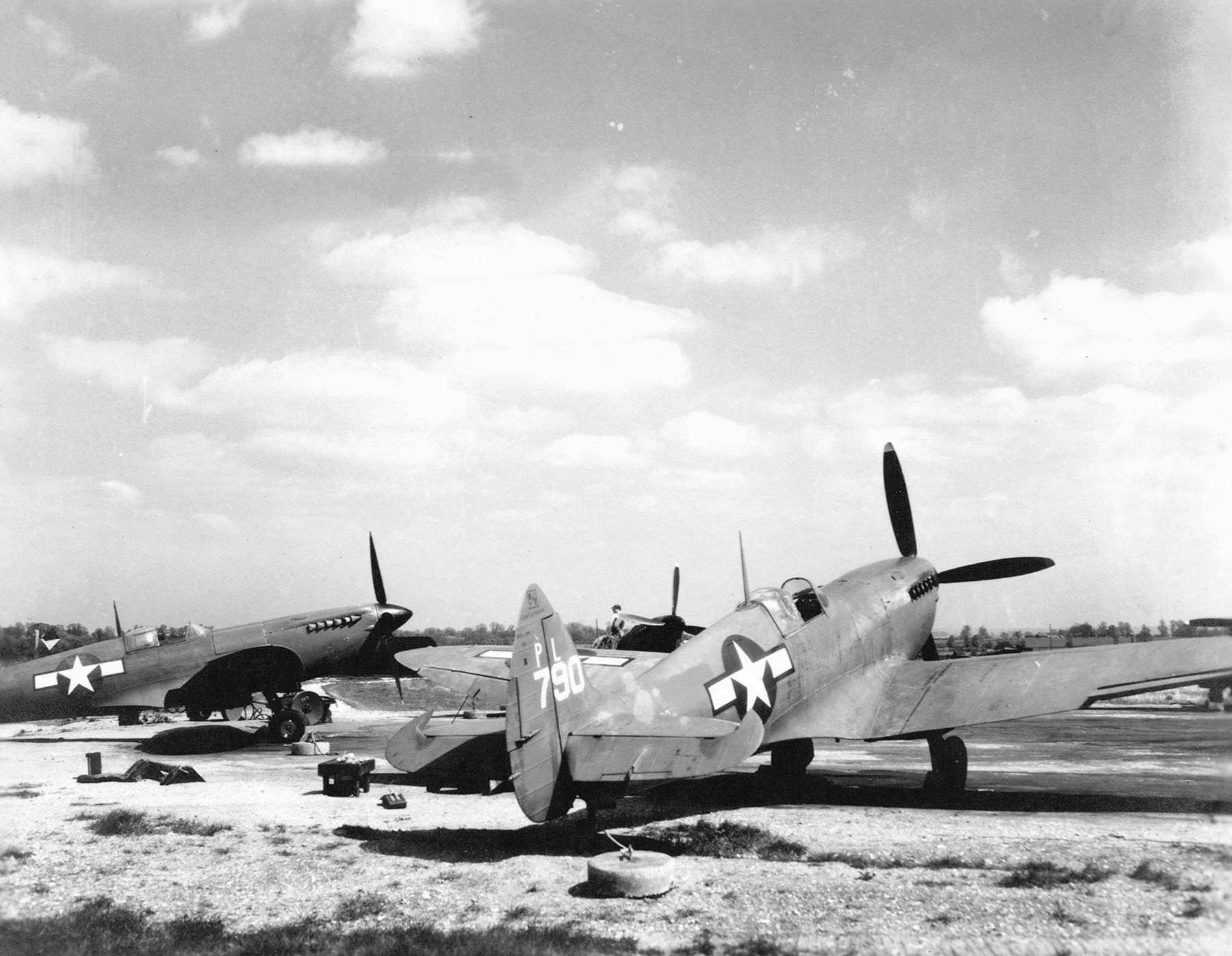 Spitfire PRXI USAAF PL790 is seen at Mount Farm with the 7th PRG 01