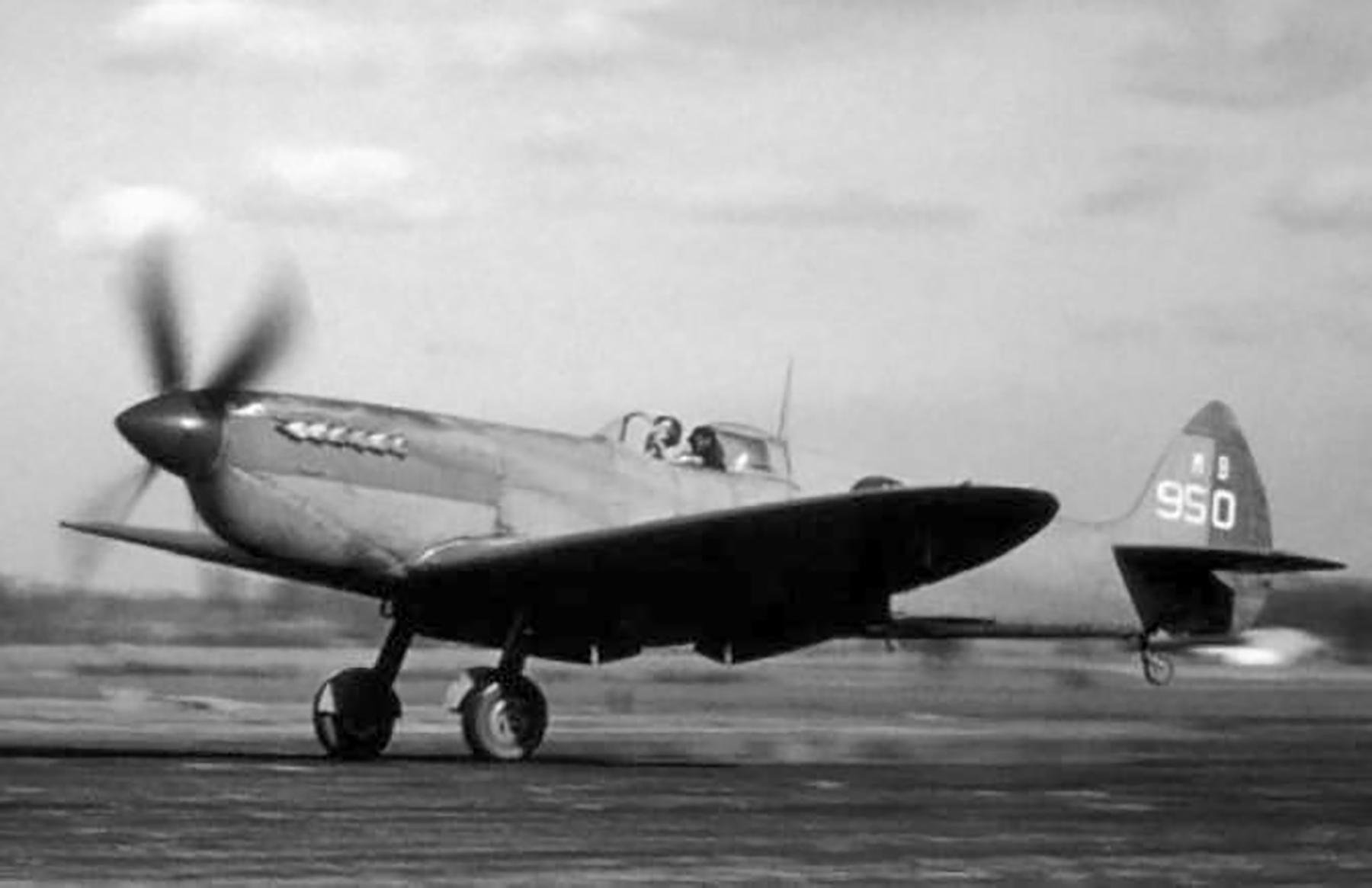 Spitfire PRXIT USAAF 7PG14PS MB950 Mount Farm England 1943 01