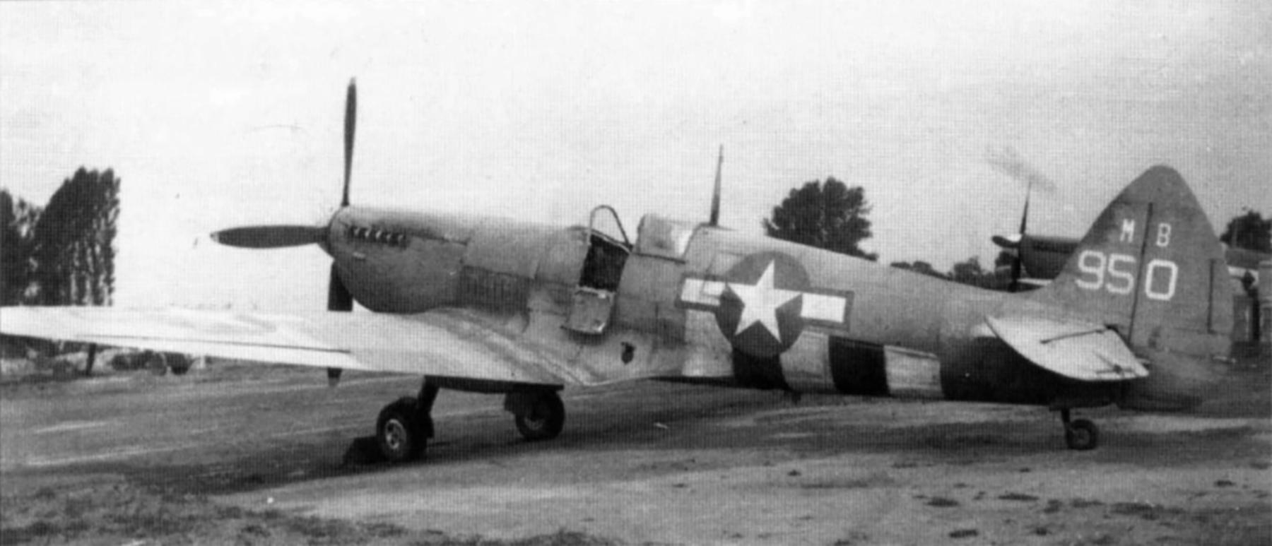 Spitfire PRXIT USAAF 7PG14PS MB950 Mount Farm England 1943 03