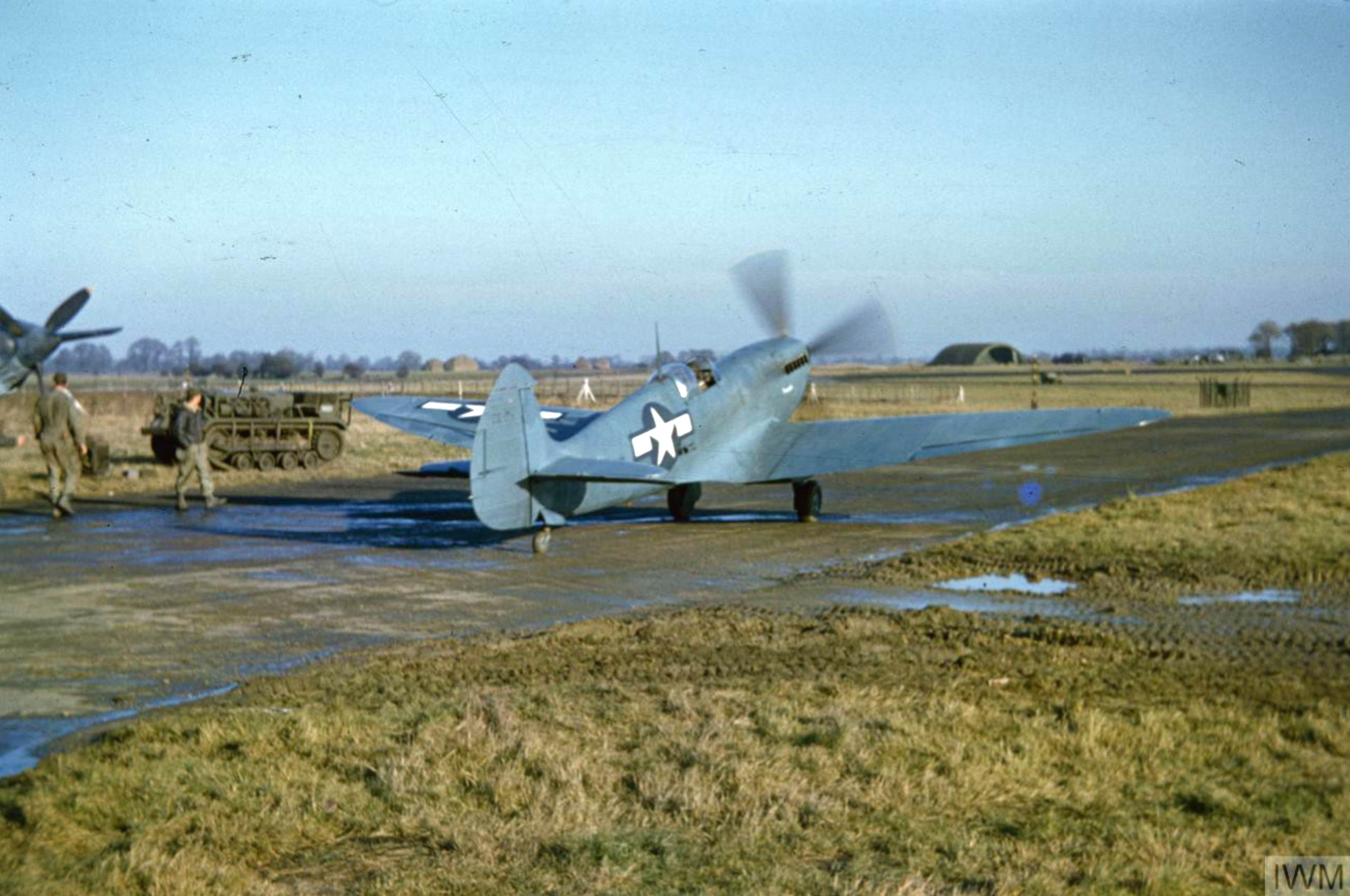 Spitfire PRXIT USAAF 7PRG14PS Marcella Oxfordshire 1944 IWM COL477