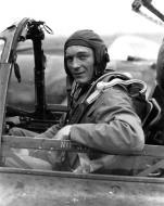 Asisbiz Aircrew USAAF 7PRG pilot Lt Glenn Wiebe In F 5E (P 38) Cockpit 01