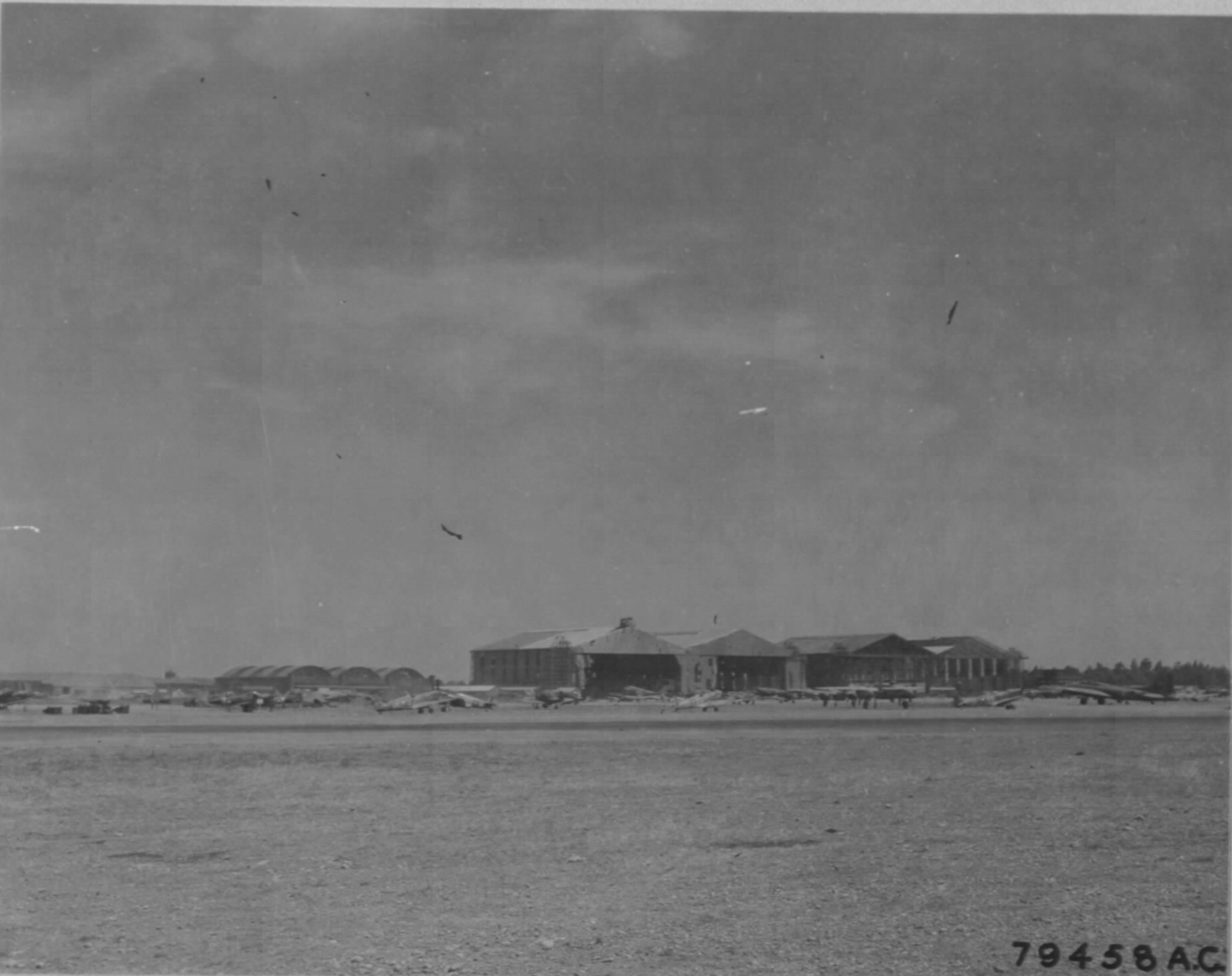 Airbase hangars at Maison Blanche Airfield Algiers Algeria June 1943 01