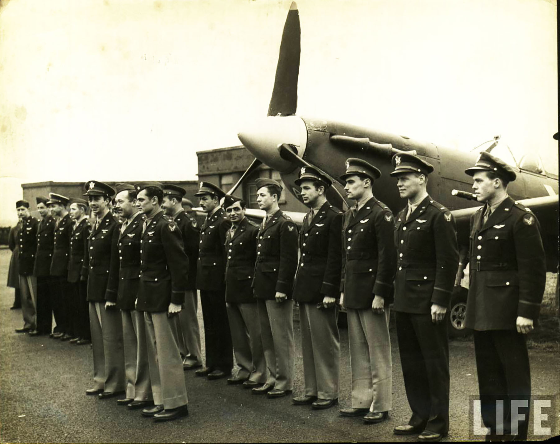 Aircrew USAAF pilots 4th Fighter Group time life photo 01