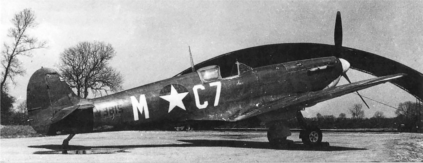 Spitfire LFVa USAAF 496FTG555FTS MC7 W3815 Goxhill England 01