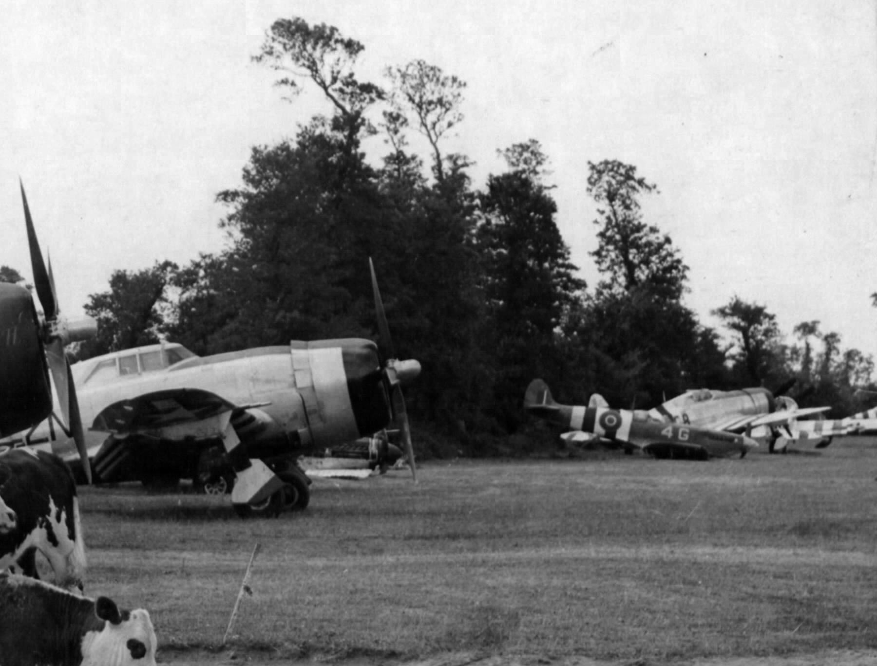 Spitfire MkVb USN VCS 7 4Q Normandy Airfield late 1944 02