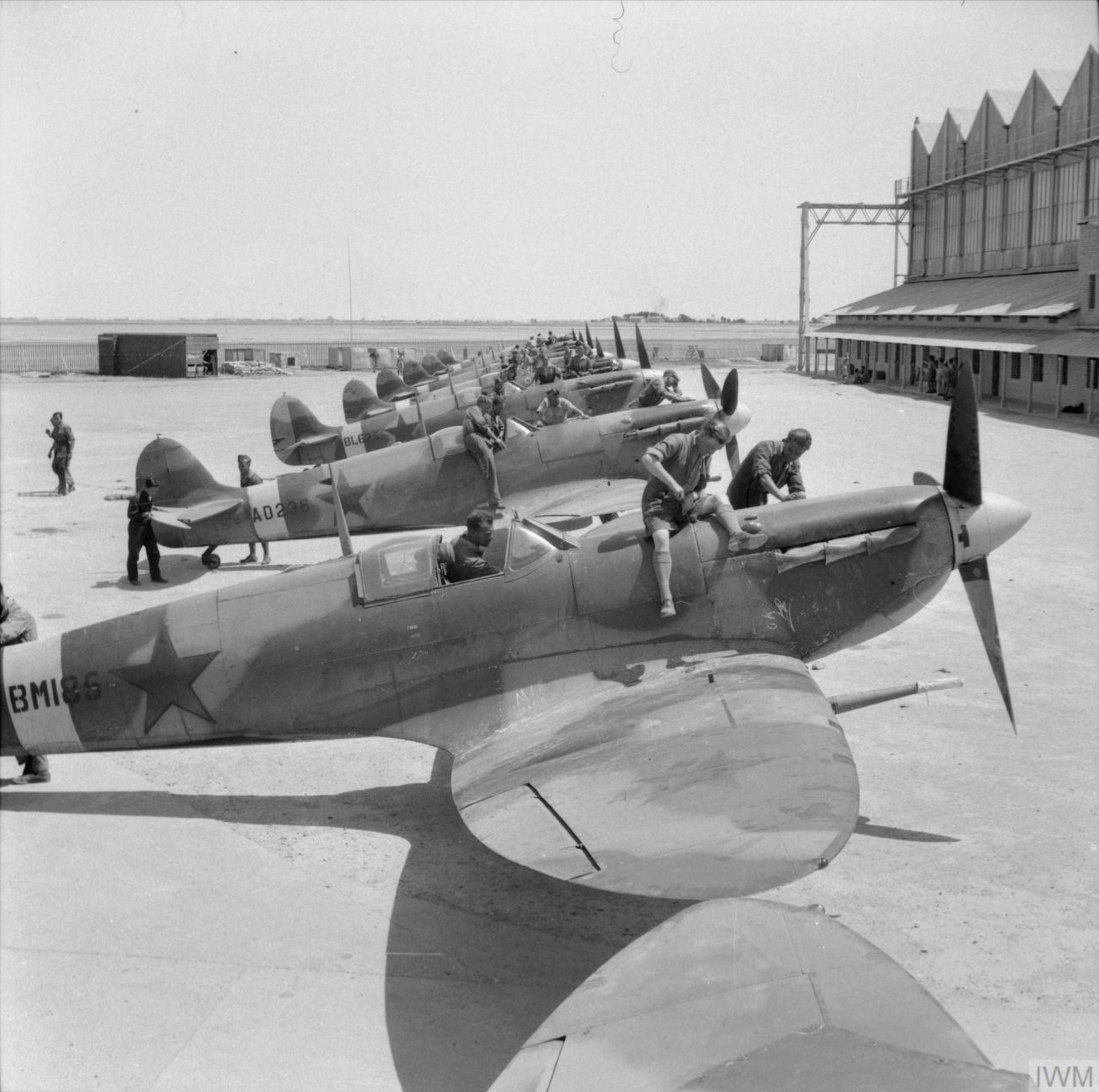 Spitfire MkVb USSR 57GvIAP BM186 AD236 BL625 Abadan Khuzestan 1943 IWM E23983