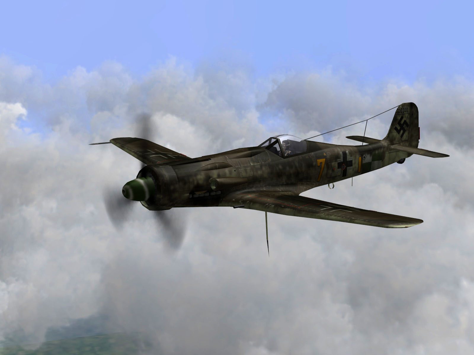 IL2 TT Ta 152C 9.KG27 (Y7+I) on patrol France June 1944 V01
