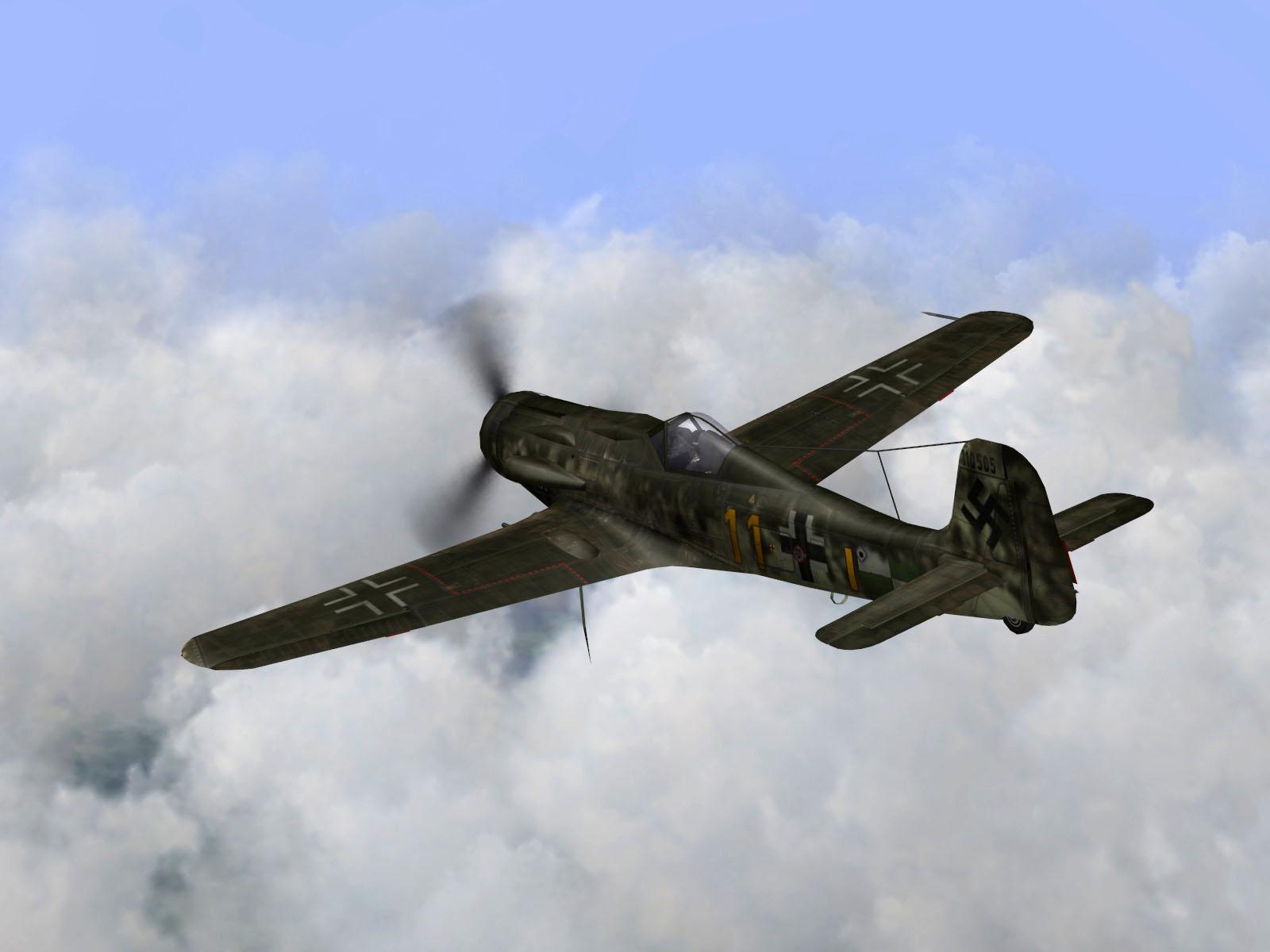 IL2 TT Ta 152C 9.KG27 yellow 11 on patrol over France 1944 V02