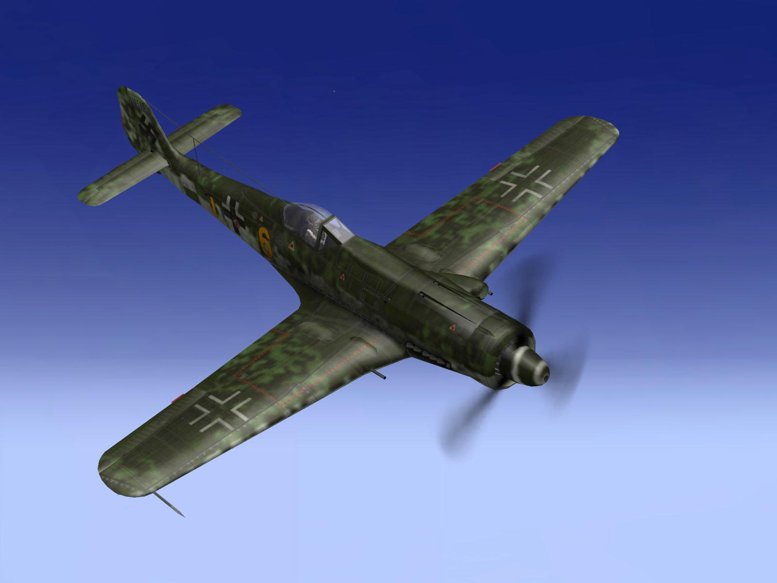 IL2 TT Ta 152C 9.KG27 yellow 6 diving on RAF Tempest MkV intruders V01