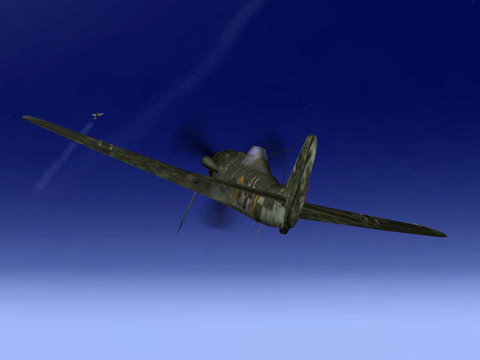 IL2 TT Ta 152C 9.KG27 yellow 6 intercepting RAF Tempest MkV intruders V01