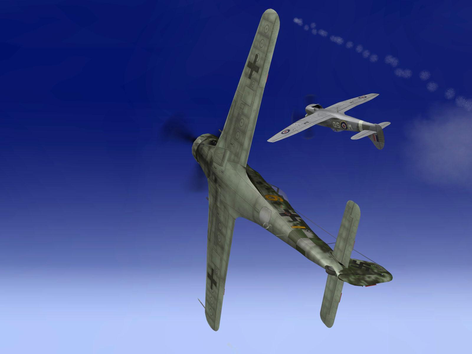 IL2 TT Ta 152C 9.KG27 yellow 6 intercepting RAF Tempest MkV intruders V02