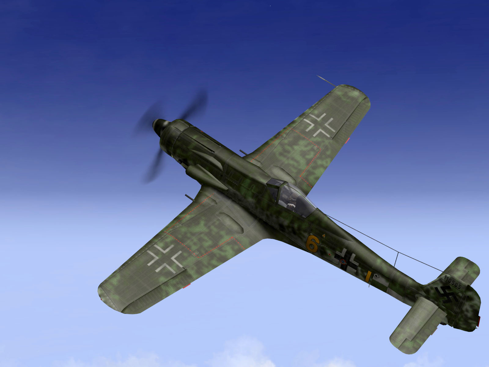 IL2 TT Ta 152C 9.KG27 yellow 6 intercepting RAF Tempest MkV intruders V03