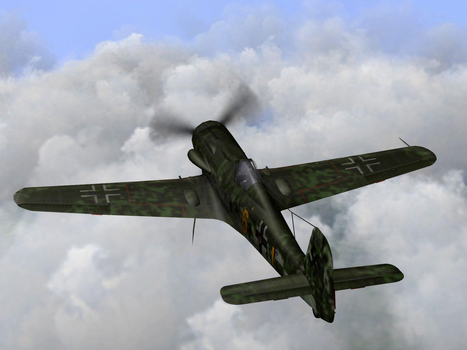 IL2 TT Ta 152C 9.KG27 yellow 6 on patrol over France 1944 V02