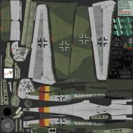 Asisbiz IL2 CF Ta 152H1 JG301 Green 9 Willi Reschke Germany 1945