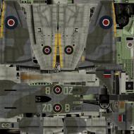 Asisbiz IL2 TT Tempest MkV RAF 222Sqn ZD B EJ886 England 1944 weathered