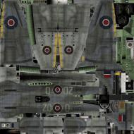 Asisbiz IL2 TT Tempest MkV RAF 222Sqn ZD D NV972 England 1944 weathered