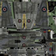 Asisbiz IL2 TT Tempest MkV RAF 222Sqn ZD E EJ882 England 1944 weathered