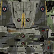 Asisbiz IL2 TT Tempest MkV RAF 222Sqn ZD F NV757 England 1944