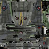 Asisbiz IL2 TT Tempest MkV RAF 222Sqn ZD O SN187 England 1944 weathered