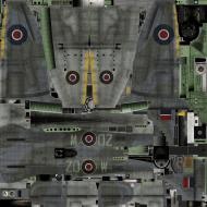 Asisbiz IL2 TT Tempest MkV RAF 222Sqn ZD W SN185 England 1944 weathered