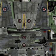 Asisbiz IL2 TT Tempest MkV RAF 222Sqn ZD X NV670 England 1944 weathered