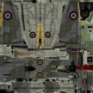 Asisbiz IL2 TT Tempest MkV RAF 3Sqn JF E Pierre Clostermann NV724 England 1944
