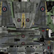 Asisbiz IL2 TT Tempest MkV RAF 3Sqn JF E SN222 England 1944