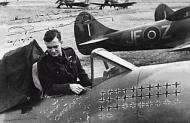 Asisbiz Famous French ace Pierre Clostermann signed photograph 02