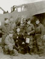 Asisbiz Tuploev Tu 2 12DBAP drawing of Ilya Muromets on horseback with mechanic SM Hetman (c) Kalinin Front 1943 01