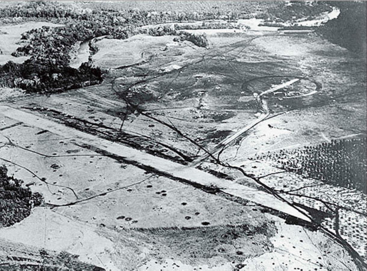 Aerial photo of Henderson Field Guadalcanal 1942 01