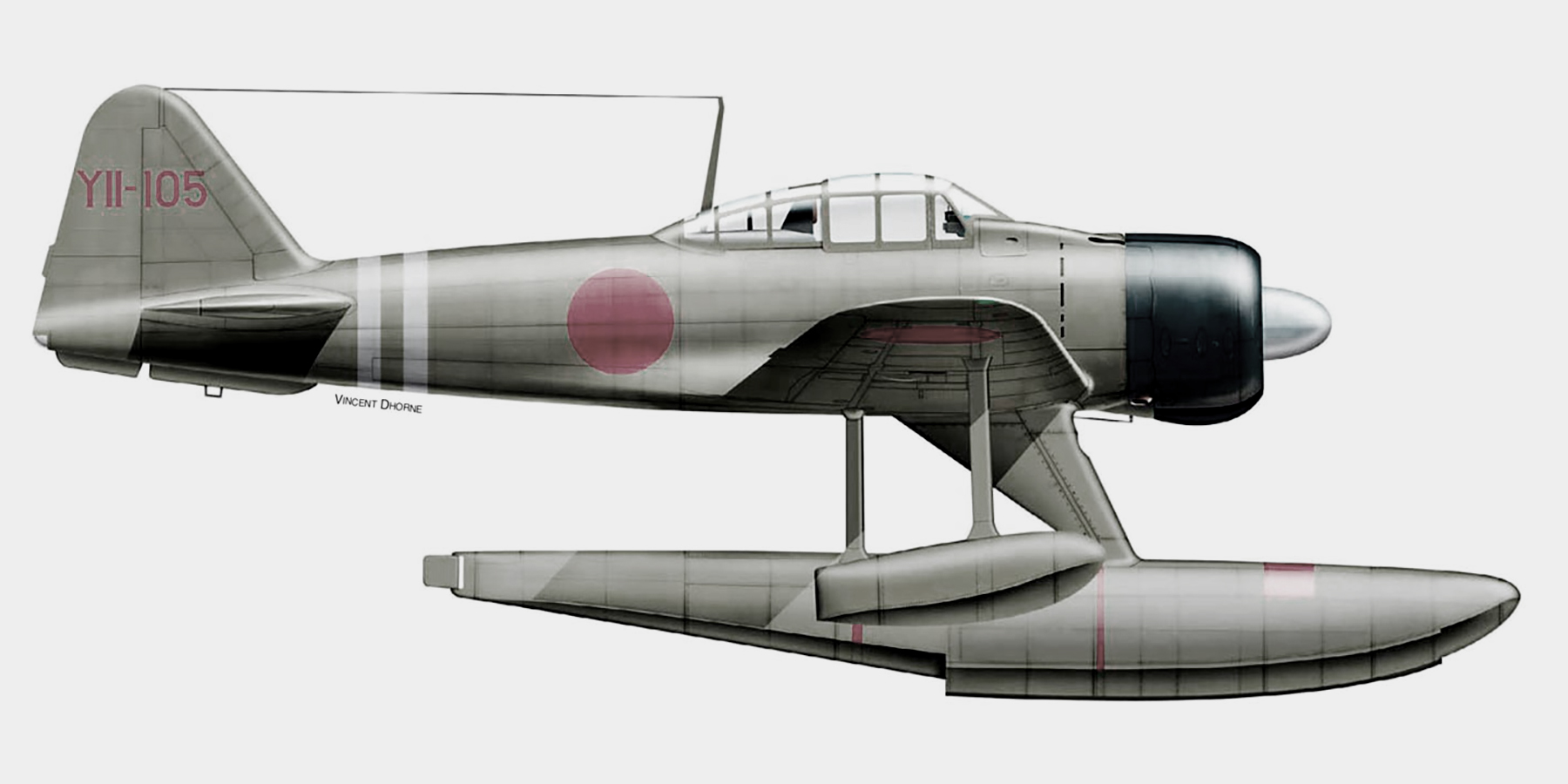 Artwork showing a Nakajima A6M2 N Koku Sentai YII 105 Rekata Bay Oct 1942 0A