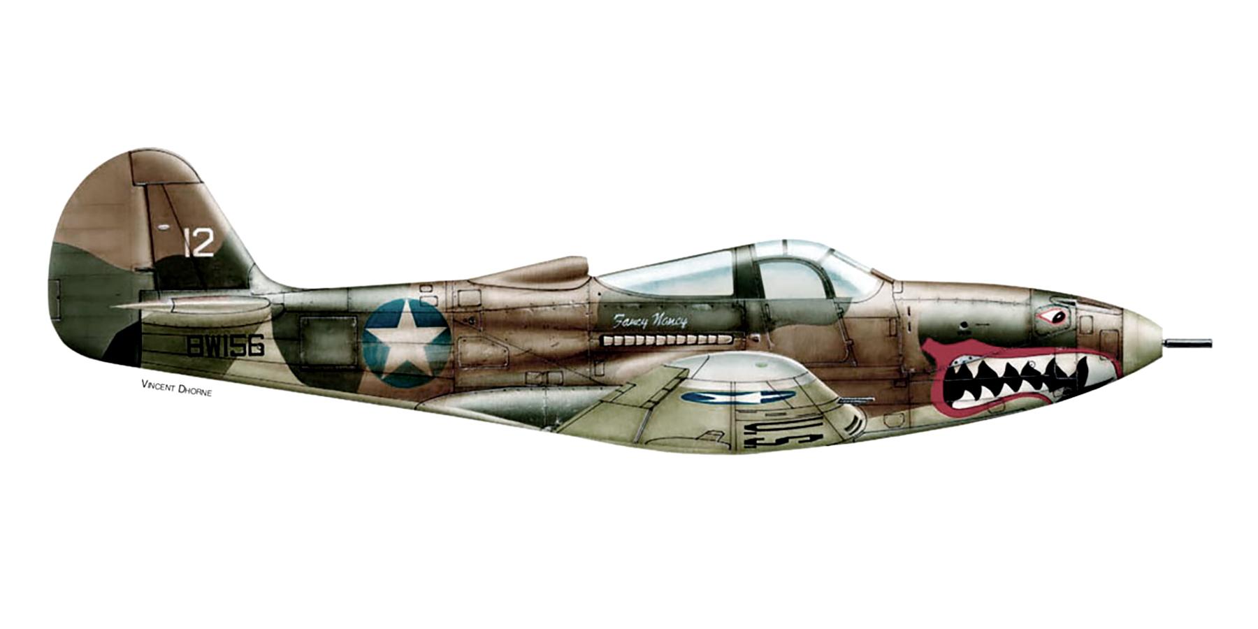 Bell P 400 Aircobra USAAF 347th FG 67th FS White 12 BW156 Henderson Guadalcanal 1942 0A