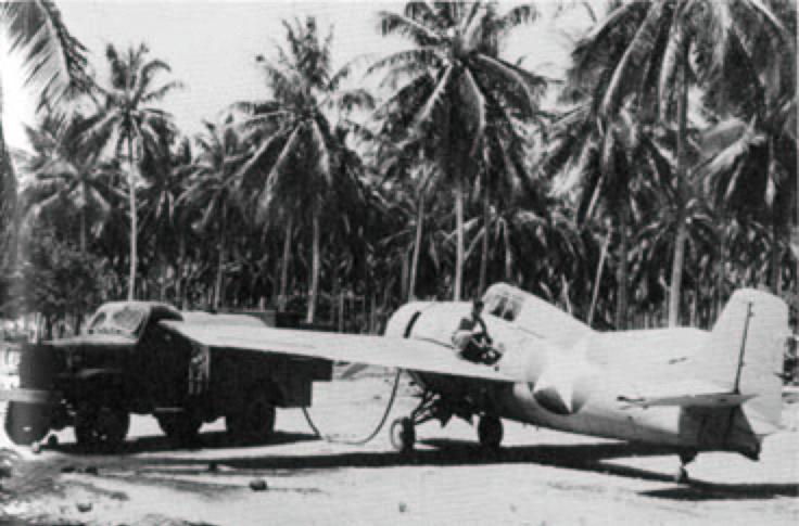 Grumman F4F 3 Wildcat being refueled Henderson Field Guadalcanal 1942 01