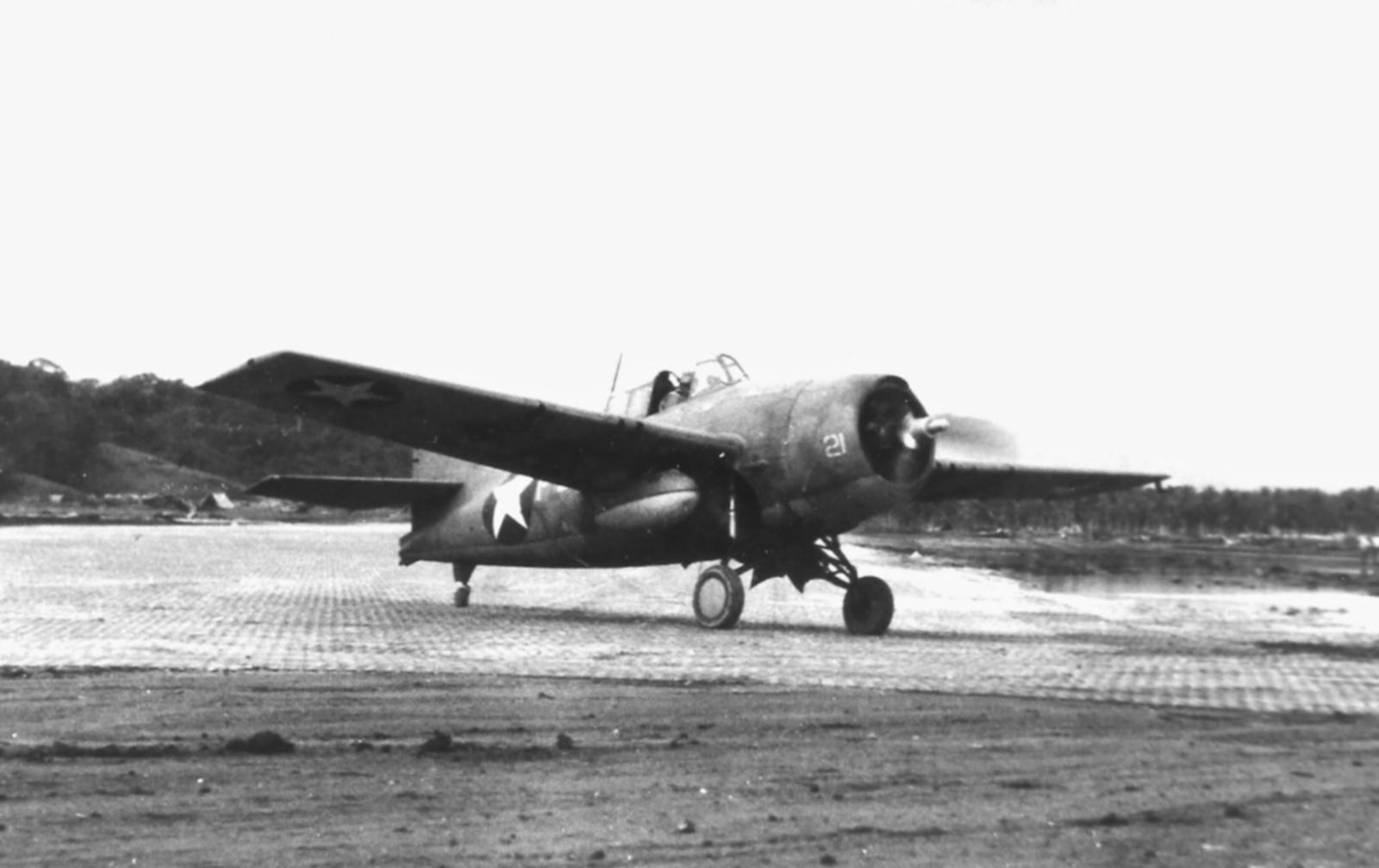 Grumman F4F 3 Wildcats White 21 at Henderson Field Guadalcanal Jan 1943 01