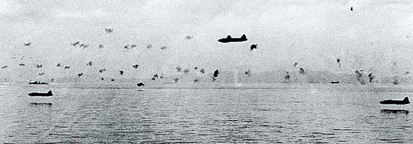 Japanes Betty bombers showing their skill at low level attacks Guadalcanal 1942 01
