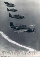 Asisbiz Grumman F4F 3 Wildcats White 77 and 105 and others on patrol over Guadalcanal Apr 1943 01