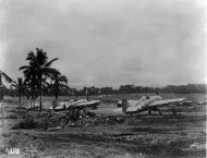 Asisbiz Grumman F4F 3 Wildcats White 91 and Black 21 at Henderson Field Guadalcanal 1942 01