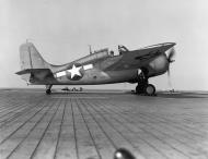 Asisbiz FM 2 Wildcat White 8 awating catapulting from the CVF 30 USS Charger Nov 1943 01