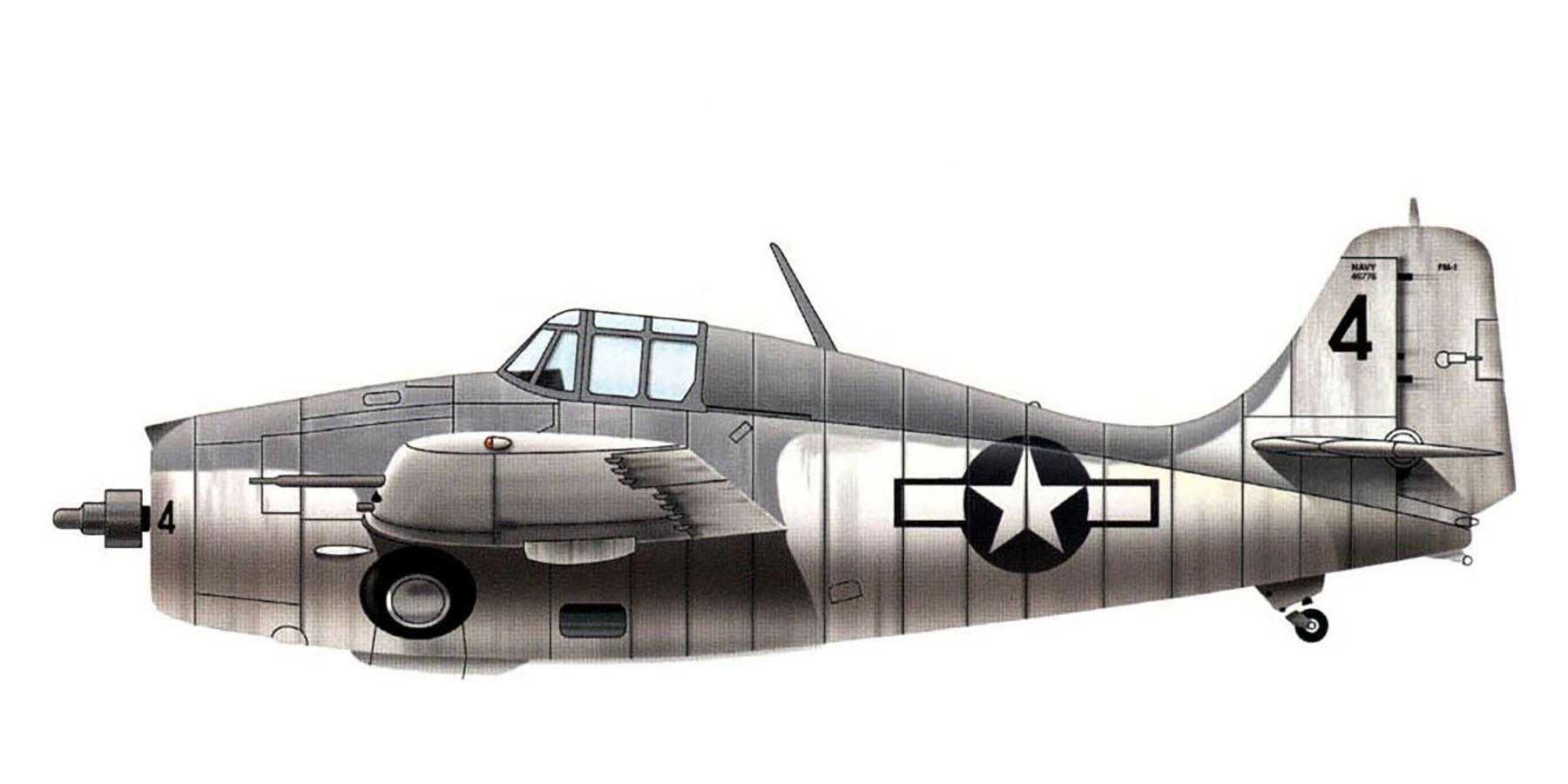 FM 1 Wildcat VC 8 Black 4 Norman Hodson CVE 60 USS Guadalcanal off Senegal 4th Jun 1944 0B