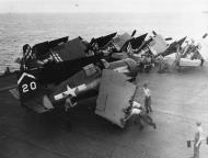 Asisbiz FM 2 Wildcat VC 80 White 20 with VC 71 background aboard CVE 75 USS Hoggatt Bay 1945 01