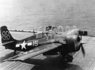 Asisbiz FM 2 Wildcat VC 93 White 15 taking off CVE 80 USS Petrof Bay Apr 1945 01