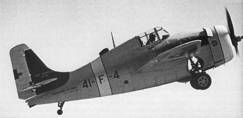 Grumman F4F 3 Wildcat VF 41 Black 41F4 BuNo 1850 pilot Charlie Shields CV 4 USS Ranger 1940 01