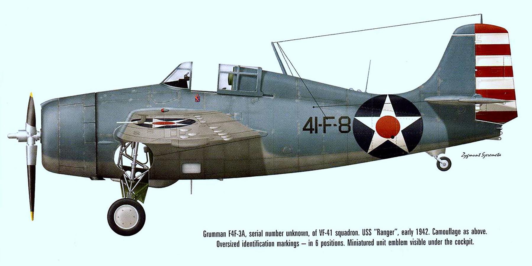 Grumman F4F 3 Wildcat VF 41 Black