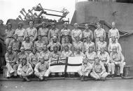 Asisbiz Aircrew USN VF 6 poses onboard HMS Victorious 01