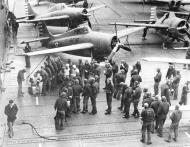 Asisbiz Grumman F4F 3 Wildcat VF 6 Black 6F16 and 6F17 aboard CV 6 USS Enterprise 1942 01