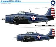 Asisbiz Grumman F4F 3 Wildcat VF 6 Black F14 aboard aboard CV 6 USS Enterprise 1942 0A