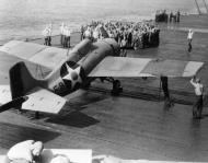 Asisbiz Grumman F4F 3 Wildcat VF 6 Black F9 on deck showing early camuflage scheme c 1942 01